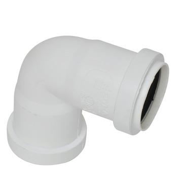 Bocht 90° PPC wit 40x40 mm