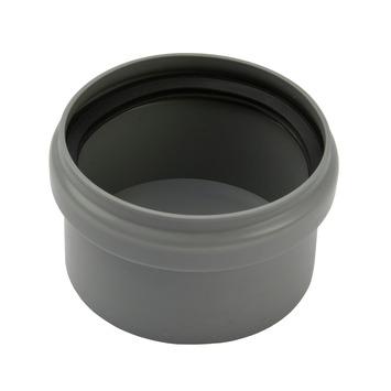 Afsluitkap PPC grijs 75 mm