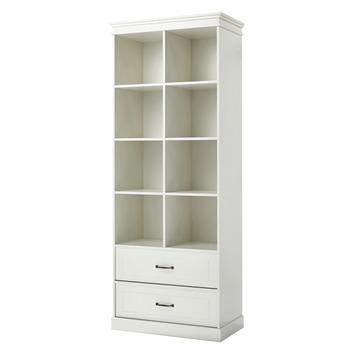 avignon boekenkast mdf wit 80x40x200 cm