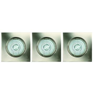 GAMMA inbouwspots eco vierkant richtbaar 3x42watt wit