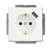 Busch-Jaeger stopcontact inbouw  met USB wit