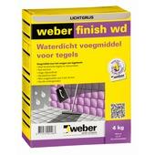 Weber Wand & Vloer voegmiddel waterdicht lichtgrijs 4 kg