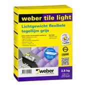 Weber tegellijm tegel op tegel lichtgrijs 5 kg