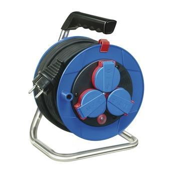 Brennenstuhl Garant IP44 kabelhaspel blauw/zwart 15 meter