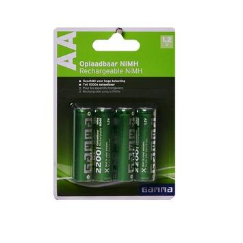 GAMMA oplaadbare batterij AA 4 stuks
