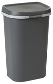 Allibert afvalbak Mistral Flat antraciet 50 liter