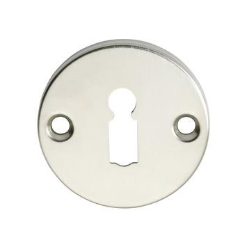 GAMMA sleutelplaat messing mat nikkel rond 2 stuks