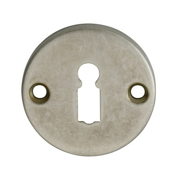 GAMMA sleutelplaat rond messing antiek tin