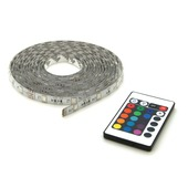 LED strip multicolour met afstandsbediening 5 meter (IP 44)