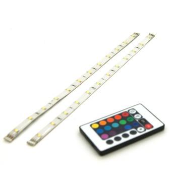 LED strip multicolour met afstandsbediening 30 cm 2 stuks