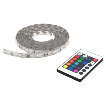 LED strip multicolour met afstandsbediening 2 meter (IP44)