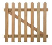 Rechthek poort hardhout 80x90 cm