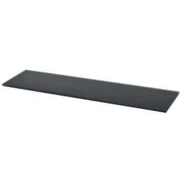 Duraline glaspaneel 4XS zwart 12 mm 80x20 cm