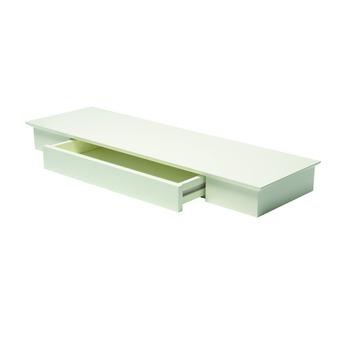 Zwevende Plank Met Lades.Duraline Wandplank Met Lade Xl8 Sfeervol Wit 80x25 Cm