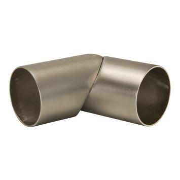CanDo flexibel koppelstuk voor trapleuningen RVS-look Ø 45 mm