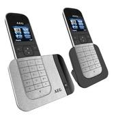 AEG Voxtel telefoon twinset D570 zilver