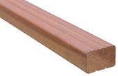 Tuinbalk regel professioneel hardhout 305x6,7x4,4 cm