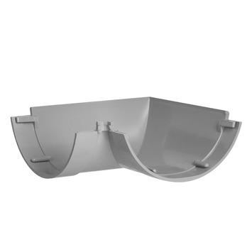 Martens hoekstuk mastgoot grijs 100 mm