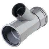 Martens T-stuk 45° PVC grijs 2x schuifmof 1x lijmverbinding 110x75x110 mm