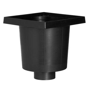 Martens vloerput PVC zwart excl. deksel 20x20 cm onderuitlaat Ø 75mm