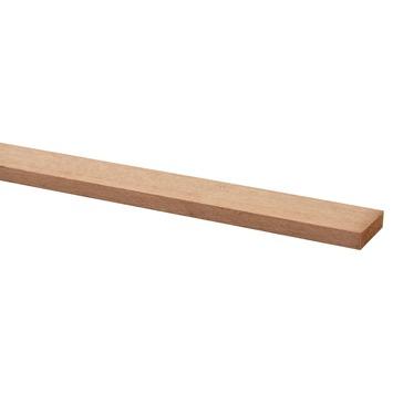 Lat hardhout geschaafd 9x35 mm 210 cm