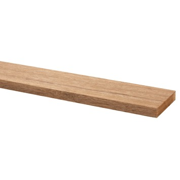 Lat hardhout geschaafd 12x68 mm 210 cm