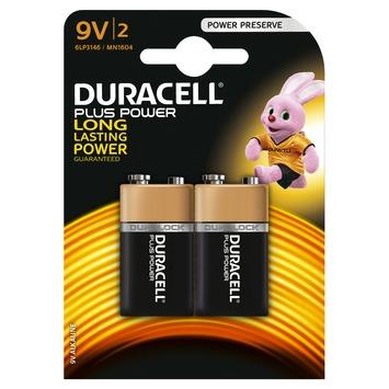 Duracell batterij Alkaline Plus Power 9V 2st