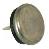 GAMMA glijnagel rubber nikkel 22 mm 12 stuks