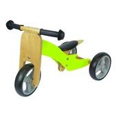Houten driewieler/ loopfiets groen
