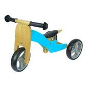 Houten driewieler/ loopfiets blauw