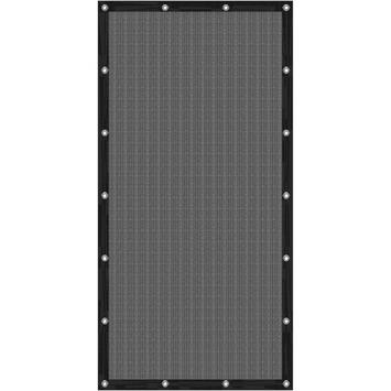 Cubic windscherm 90 x 180 cm zwart