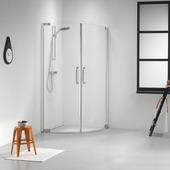 Get Wet by Sealskin Impact douchecabine kwartrond met 2 swingdeuren chroom zilver hoogglans 195x100 cm