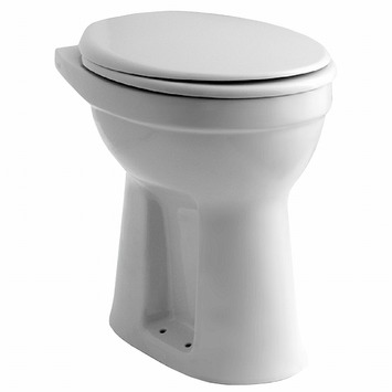 Verhoogde Wc Pot.Hydra Closetpot Verhoogd Met Onderafvoer Ao Wit 46 Cm