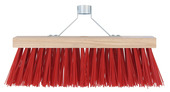 Bezem rood met stokhouder 35 cm