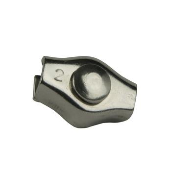 Staaldraad klem 2mm rvs 316