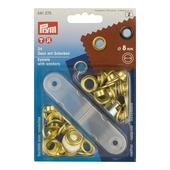 Ringen 8 mm messing 24 stuks