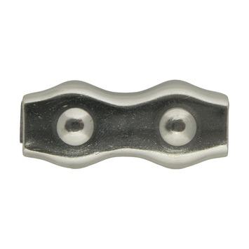 Dubbele staaldraadklem 8 mm