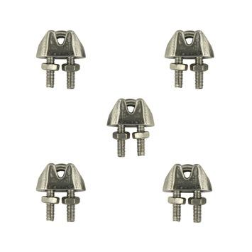 Staaldraadklemmen 4 mm 5 stuks