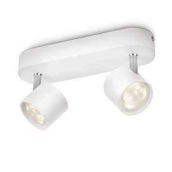 Philips Opbouwspot MyLiving Star LED Wit 2 x 4.5W