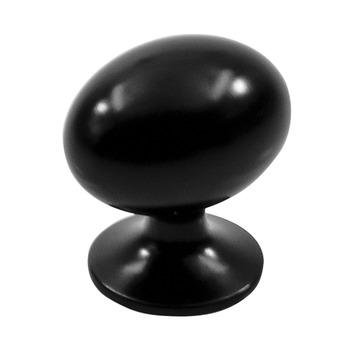 Knop Amber zwart 20mm