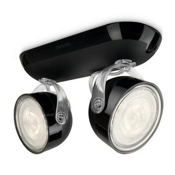 Philips Opbouwspot MyLiving Dyna LED Zwart 2 x 3W
