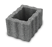 Bloembak beton antraciet 40x30x25 cm per pallet