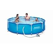 Zwembad met pomp en stalen frame 305 cm
