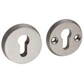 GAMMA cilinderplaat rond SKG*** aluminium RVS-look