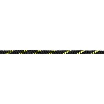 Trimlijn 4mm        gevl.zwrt/geel per m