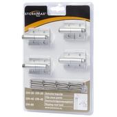 StoreMax clip schuine kap metaal zilver 4 stuks