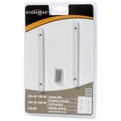 StoreMax handgreep strip metaal zilver 2 stuks