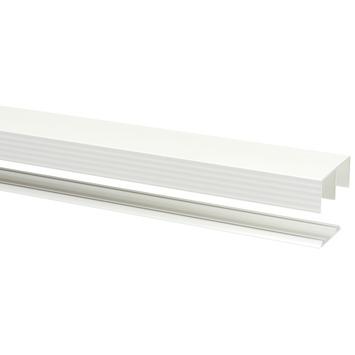 StoreMax rail metaal wit t.b.v. R40/R60 240x8,1x4,1 cm