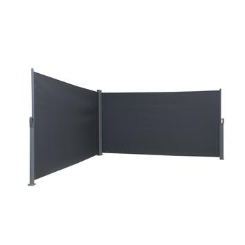 Windscherm oprolbaar antraciet 300x300x160 cm