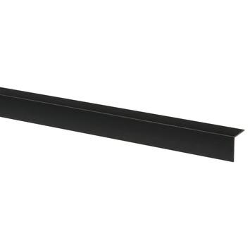 Hoekprofiel kunststof zwart 20x20 mm 260 cm